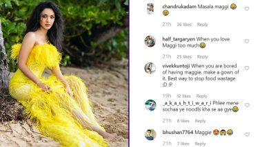 Kiara Advani Gets Compared To Maggi After A Picture of Hers in a Yellow Gown Goes Viral!