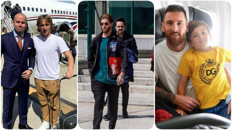 Lionel Messi, Kylian Mbappe, Sergio Ramos & Others Leave for The Best FIFA Football Awards 2019 (See Pics & Video)