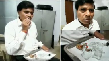 MP Lawyer Dayaram Sahu is Addicted to Eating Glass Since 45 Years! Viral Cringe-Worthy Video Can Kill Your Appetite