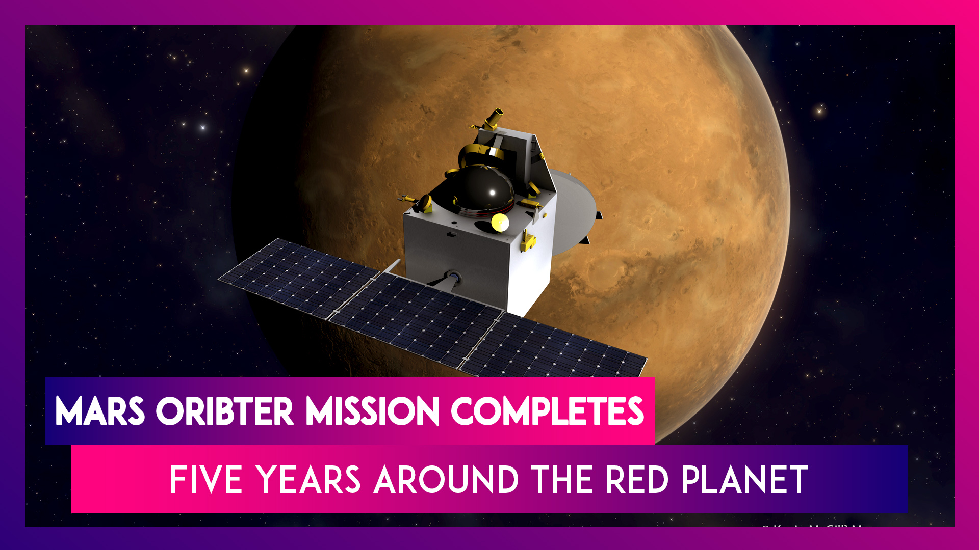 Mars Orbiter Mission (MOM) Completes Five Years Around The Red Planet