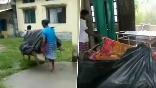 Assam Medical Apathy: Woman Gives Birth on Make-Shift Stretcher Made of Cot, Plastic Sheet And Cloth While She Was Carried For 5 KM