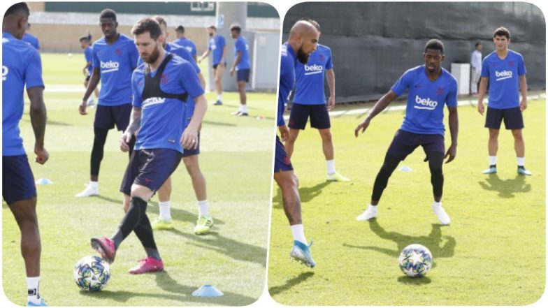 Lionel Messi Back Training With Barcelona After Club's Win Over Valencia; Could be in Playing XI Against Dortmund (See Pics)
