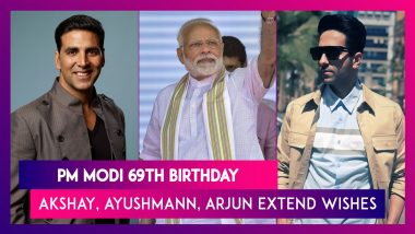 PM Modi's 69th Birthday: Akshay Kumar, Ayushmann Khurrana, Arjun Kapoor & Others Send Warm Wishes