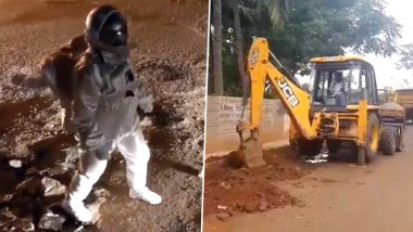 Bengaluru Fake Moonwalk Video Over Potholes Helps Get Roads Fixed! BBMP Responds to Viral Clip by Beginning Construction