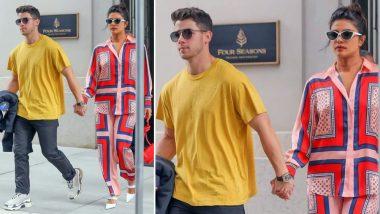 Priyanka Chopra Rocks Printed Pyjamas While Leaving for Pennsylvania with Nick Jonas - View Pic