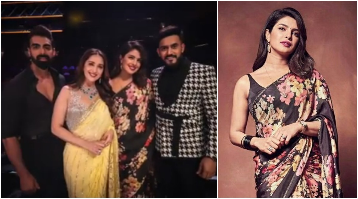 The Sky Is Pink Promotions: Priyanka Chopra Jonas Poses With Dhak Dhak Girl Madhuri Dixit-Nene on the Sets of Dance Deewane 2 (View Pics)