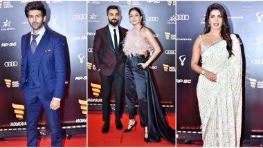 Priyanka Chopra and Kartik Aaryan Join Anushka -Virat at Indian Sports Honours Awards - View Pics