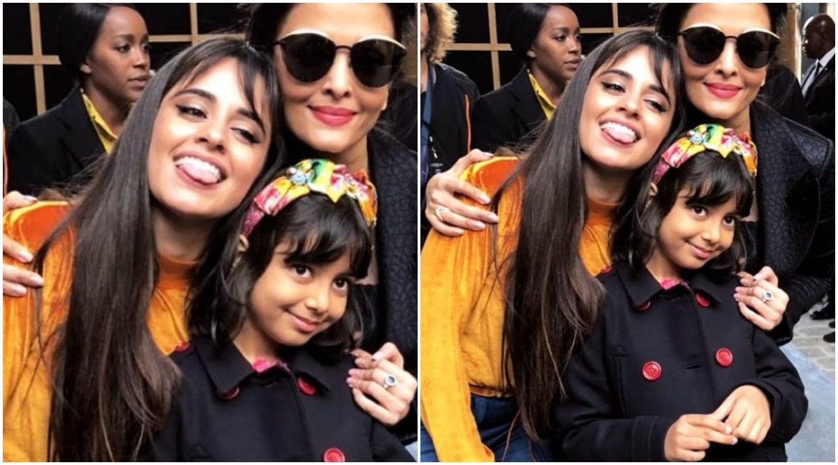 Camila Cabello Sticking Out Her Tongue While Posing with Aishwarya Rai Bachchan and Munchkin Aaradhya Is Simply Cute (View Pic)