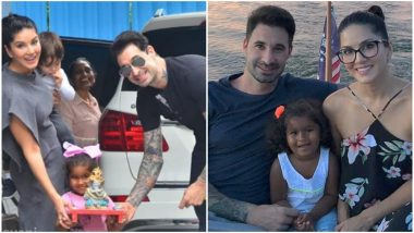 Ganesh Chaturthi 2019: Sunny Leone-Daniel Weber's Daughter Nisha Kaur Weber's Excitement to Hold the Idol of Lord Ganesha in Her Hands Is Pure Bliss (Watch Video)