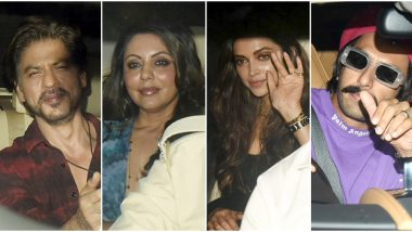 Ranbir Kapoor Birthday: Shah Rukh Khan-Gauri Khan, Deepika Padukone-Ranveer Singh and Others Arrive In Style for the Party (View Pics)