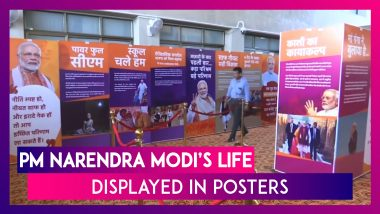 Poster Exhibition On PM Narendra Modi's Life Organised In Gandhinagar As He Turns 69
