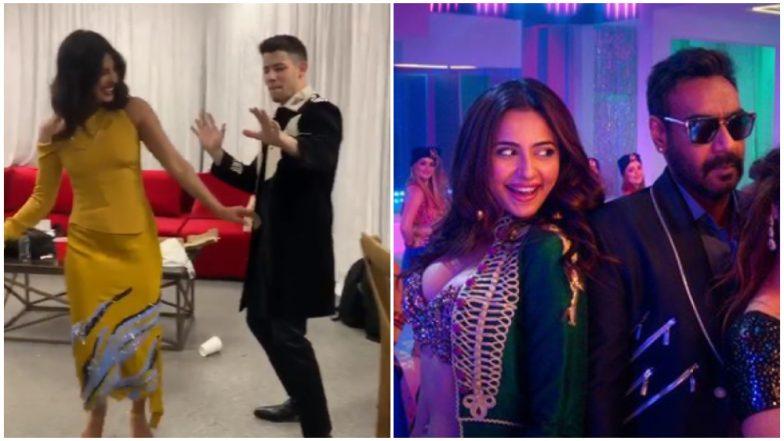 Nick Jonas Dances with Priyanka Chopra to Ajay Devgn's Hauli Hauli and He Looks Adorably Awkward (Watch Video)