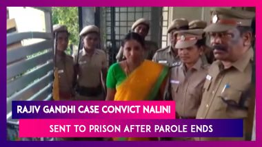 Rajiv Gandhi Assassination Convict Nalini Sent To Prison After Madras HC Refuses To Extend Parole