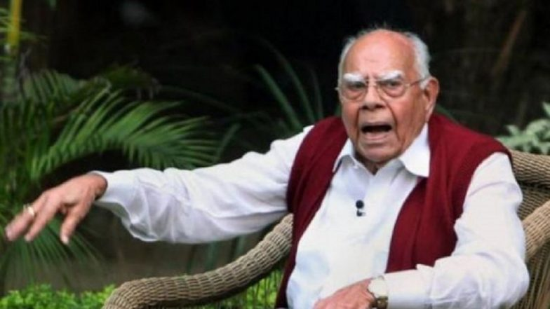 Ram Jethmalani Dies: Kerala CM Pinarayi Vijayan Condoles Death of the Eminent Jurist, Says 'He Expressed His Views Fearlessly'