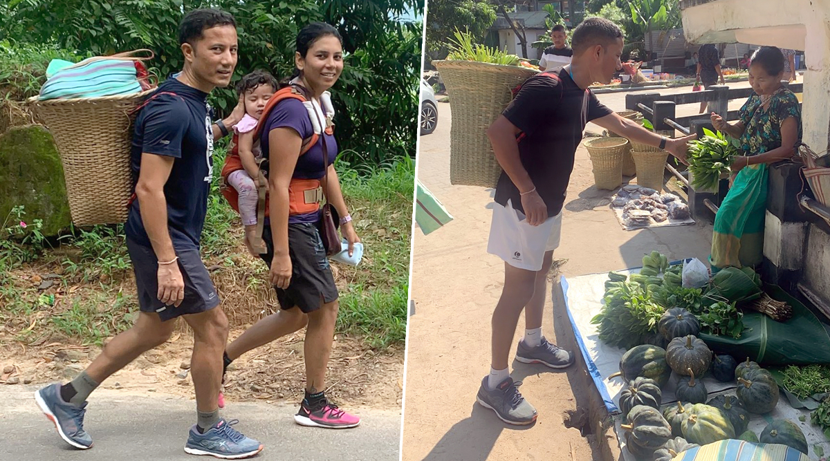 Meghalaya IAS Officer Ram Singh Walks 10 Km to Buy Vegetables & Local Produce, Internet Is Impressed by His Fitness Routine (View Pics)