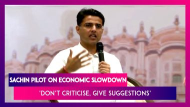 Sachin Pilot Calls For Accepting Reality Of The Economy, Says 'Don't Criticise, Give Suggestions'