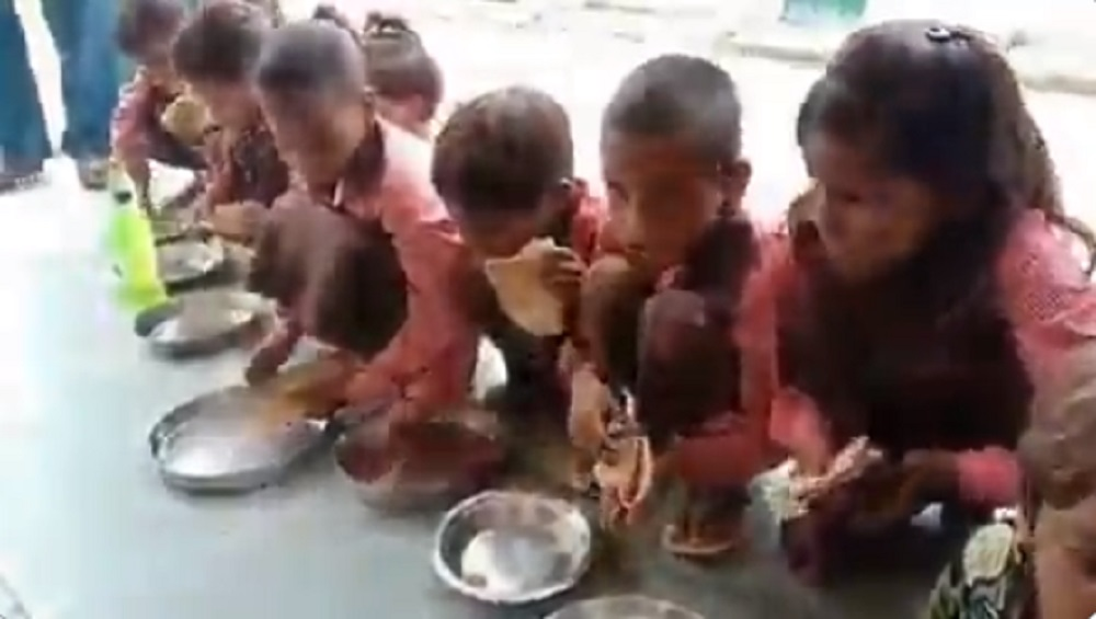 Uttar Pradesh Shocker: Rat Found in 'Cooked Dal' in Midday Meal in Hapur, 10 Children Hospitalised