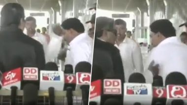 Siddaramaiah Slaps Party Worker Outside Mysuru Airport (Watch Video)