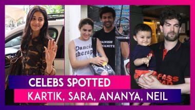 Celebs Spotted: Kartik Aaryan, Sara Ali Khan, Ananya Panday & Others Seen In The City