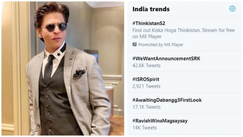 #WeWantAnnouncementSRK - Shah Rukh Khan Fans Stir Up a New Twitter Trend as They Wait For His Movie Announcement!