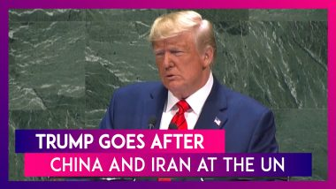 U.S. President Donald Trump Goes After China And Iran In A Monotone Yet Aggressive UN Speech