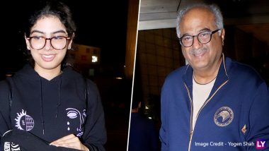Boney Kapoor's Daughter Khushi Leaves for Abroad for Further Studies! View Airport Pics