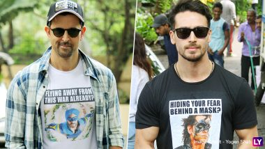Hrithik Roshan and Tiger Shroff Are at War (Excuse the Pun) With Their Quirky Tees (See Pics)
