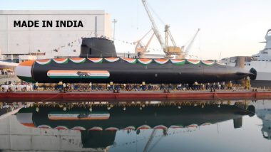 INS Khanderi to Be Commissioned by Defence Minister Rajnath Singh on Saturday; Know All About Second Kalvari-Class Submarine, View Stunning Pics