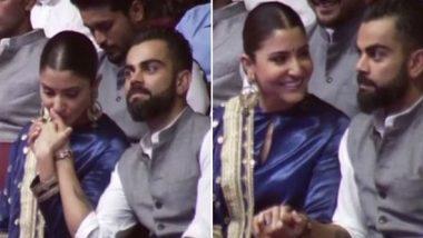 Anushka Sharma Kissing Virat Kohli's Hand at Arun Jaitley Stadium, Wins the Internet