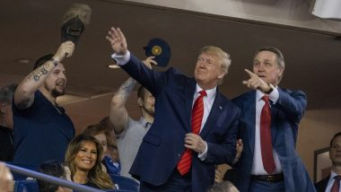 Donald Trump Booed at World Series Baseball Game, Fans Chant 'Lock Him Up' Over Impeachment Probe; Watch Video