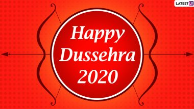 Happy Dussehra 2020 Greetings & Vijayadashami HD Images: WhatsApp Stickers, Ravan Dahan GIFs, Facebook Messages, Lord Rama Photos, SMS and Wishes to Send on Dasara