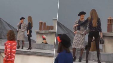 Badass Gigi Hadid Confronts Comedienne Marie Benoliel's Attempts to Crash Chanel Spring 2020 Show in Paris (Watch Viral Video)