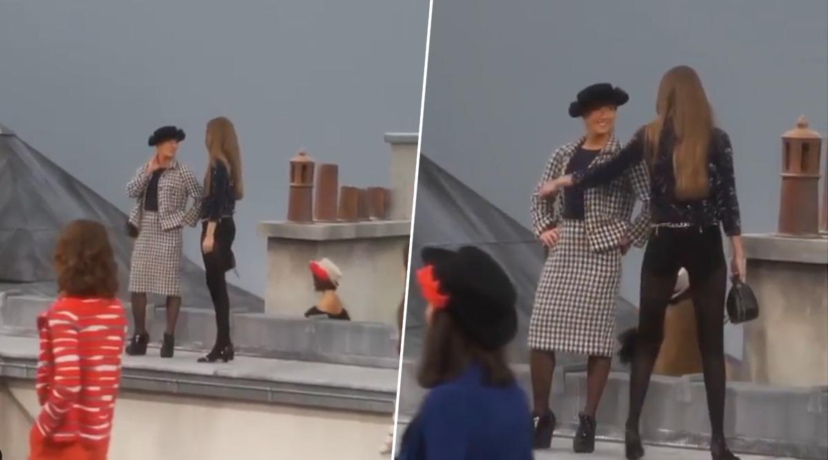 Badass Gigi Hadid Confronts Comedienne Marie Benoliel's Attempts to Crash Chanel Spring 2020 Show in Paris (Watch Viral Video)