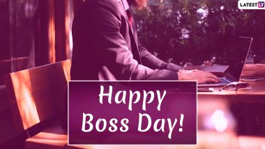 National Boss's Day 2020 HD Images & Messages: WhatsApp Stickers, GIFs, Facebook Greetings, Instagram Stories, Quotes, SMS to Wish Your Manager