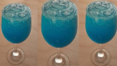 Navratri 2019 Day 4 Royal Blue Colour Recipe: Quick and Easy Way to Prepare Blue Curacao Lemonade for a Refreshing Treat