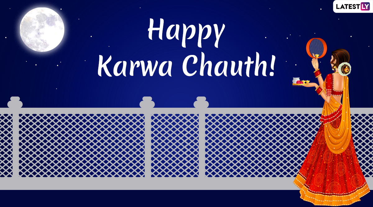Karwa Chauth 2019 Moon Wishes After Moon Sighting Timing: WhatsApp Stickers, Chand GIF Images, Greetings, Quotes, SMS, Status for Karva Chauth Festival