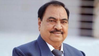 Maharashtra Assembly Elections 2019: Senior BJP Leader Eknath Khadse Files Nomination From Muktainagar Constituency as Independent Candidate