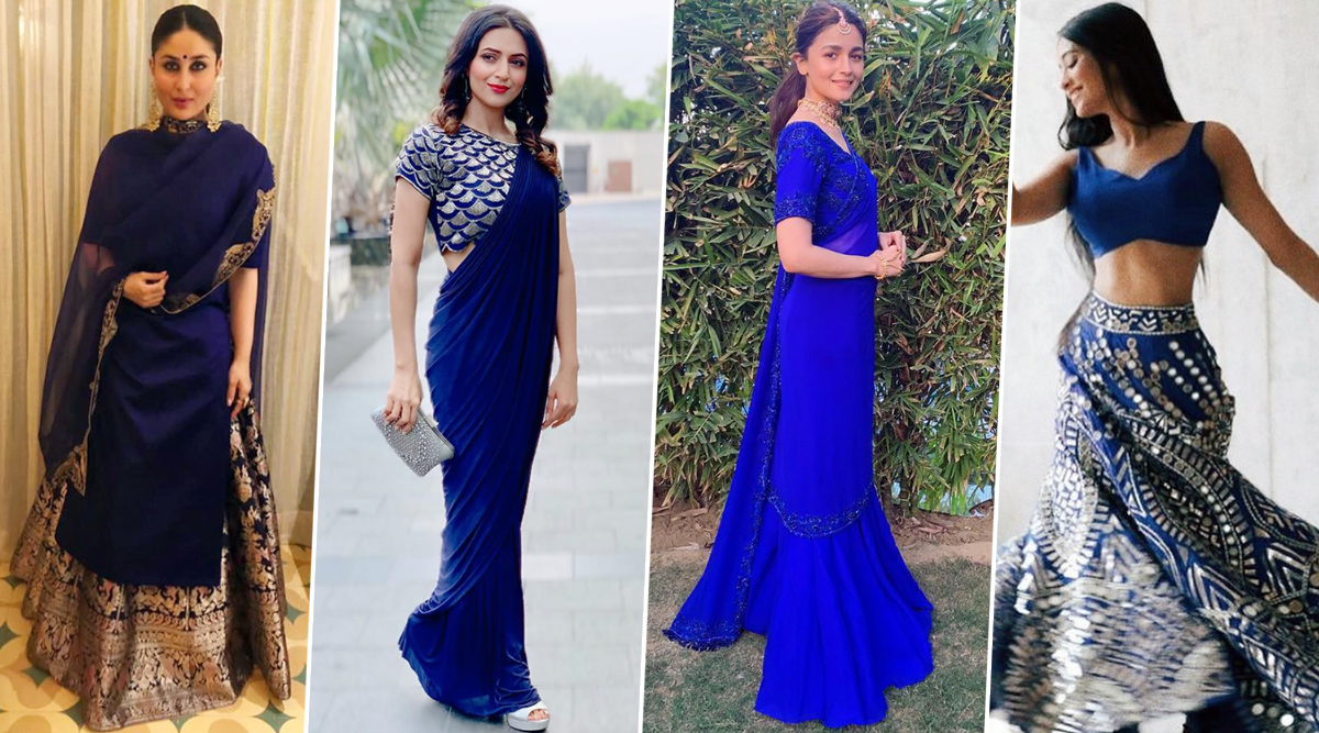 Navratri 2019 Day 4 Colour Royal Blue: Let Shivangi Joshi, Kareena Kapoor Khan, Divyanka Tripathi and Alia Bhatt Help You Get Into Desi Mode (View Pics)
