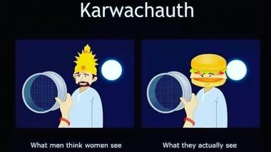 Karwa Chauth Funny Memes and Jokes: Right From Virat-Anushka to Mushy BF-GF Karva Chauth, LOL on These Posts While You Fast!