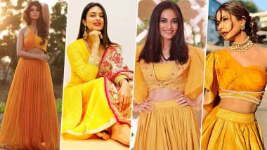 Navratri 2019 Day 5 Colour Yellow: Take Fashion Cues From Hina Khan, Jennifer Winget, Divyanka Tripathi and Surbhi Jyoti This Festive Season (View Pics)