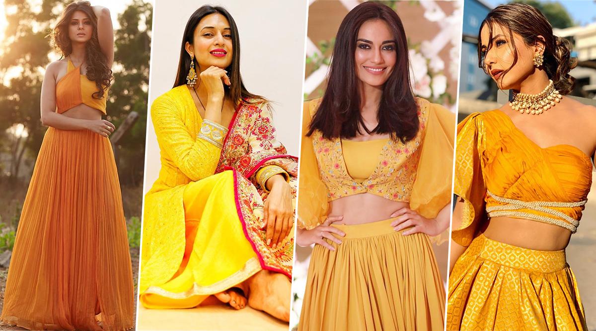 Navratri 2019 Day 5 Colour Yellow: Take Fashion Cues From Hina Khan, Jennifer Winget, Divyanka Tripathi and Surbhi Jyoti This Festive Season (View Pics)