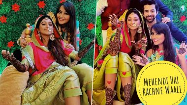 Mohena Kumari Singh Looks Breathtakingly Beautiful on Her Mehendi and Sangeet Ceremony (View Pics)
