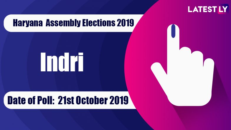 Indri Vidhan Sabha Constituency in Haryana: Sitting MLA, Candidates For Assembly Elections 2019, Results And Winners