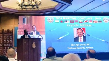 Goa Maritime Conclave 2019: NSA Ajit Doval Inaugurates 2nd Edition of Summit, Says 'Seas Will be The Most Important Area of Mutual Cooperation Among Nations'