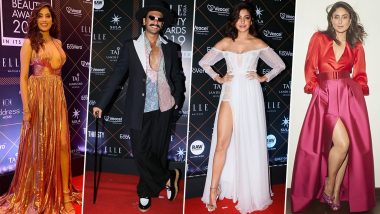 Elle Beauty Awards 2019: Kareena Kapoor Khan, Janhvi Kapoor, Ranveer Singh and Others Make a Splash on the Red Carpet (View Pics)