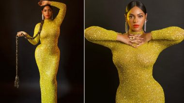 Beyonce Looks Delicious in Gold at Tyler Perry Studio Opening, But Is That a Parandha?