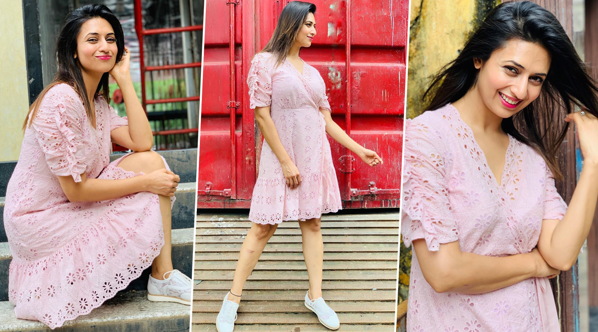 Divyanka Tripathi Dahiya Is Undeniably Pretty in a Pink Wrap Dress and We Can't Stop Gushing Over Her (View Pics)