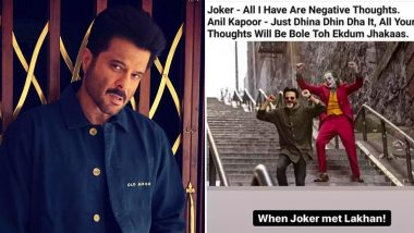 Anil Kapoor Has a 'Jhakaas' Advice for Joaquin Phoenix's Joker, Check Out His Hilarious Post!