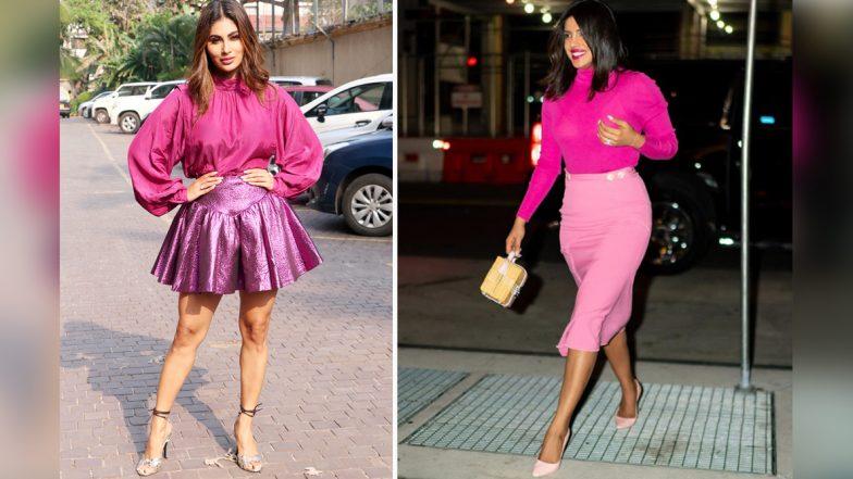 Priyanka Chopra or Mouni Roy: Whose All Pink Look Impressed You More?