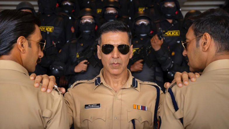 Sooryavanshi: Akshay Kumar Introduces us to Bollywood's Cop Universe with Ajay Devgn's Singham and Ranveer Singh's Simmba (View Pic)